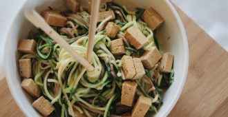 Creamy Tahini Zoodles with Tofu